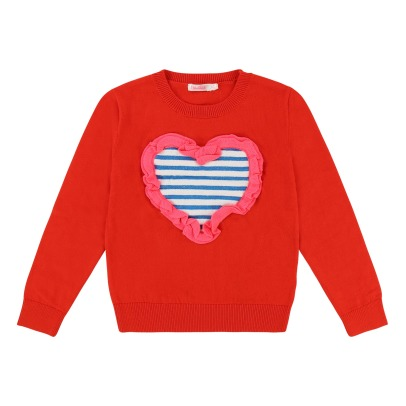 Billieblush Striped Heart Jumper-listing