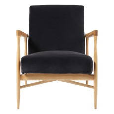 product-Red Edition Floating Armachair, Oak Wood Structure, Velvet