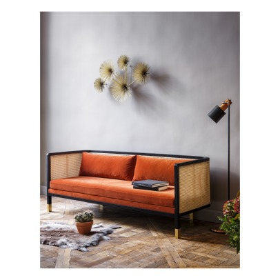 Red Edition Cannage 3 Seat Sofa - Velvet-listing
