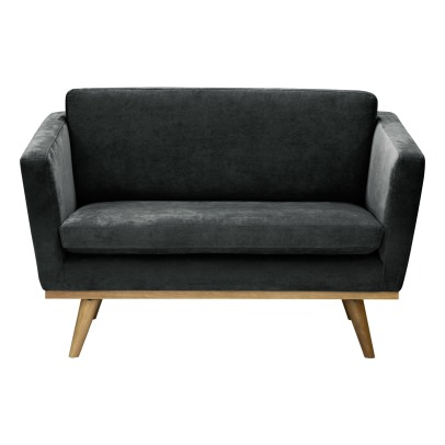 Red Edition 120 Sofa -  Oak Wood Base, Velvet-listing