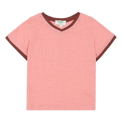 Polder Girl Camiseta lino bicolor Do-listing