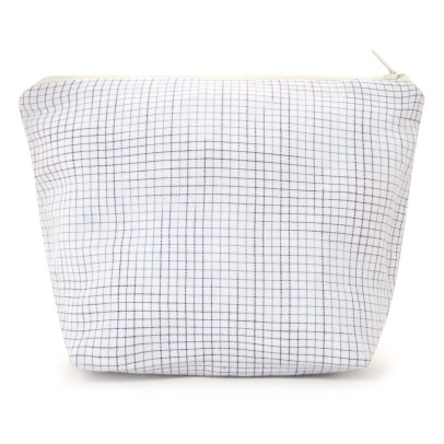 Scarlette Ateliers Paul Woven Checkered Cotton Pouch-listing