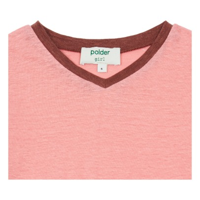 Polder Girl Zweifarbiges T-Shirt aus Leinen Do -listing
