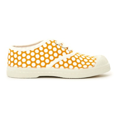 Bensimon White Dot Lace Up Tennis Shoes-listing