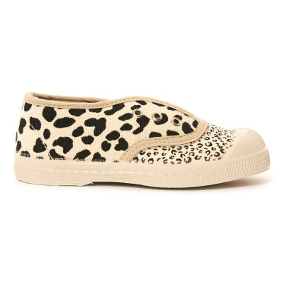 Bensimon Elly Leopard Mix Elasticated Tennis Shoeslisting