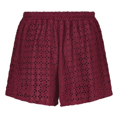 Maison Olga Taha Hemstitch Embroidered Shorts-listing