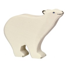 product-Holztiger Wooden Polar Bear Figurine