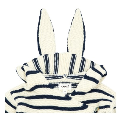 Oeuf NYC Organic Pima Cotton Striped Rabbit Baby Sleeping Bag-listing