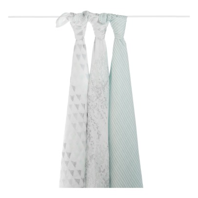 aden + anais  Metallic Maxi-Swaddles - Pack of 3-listing
