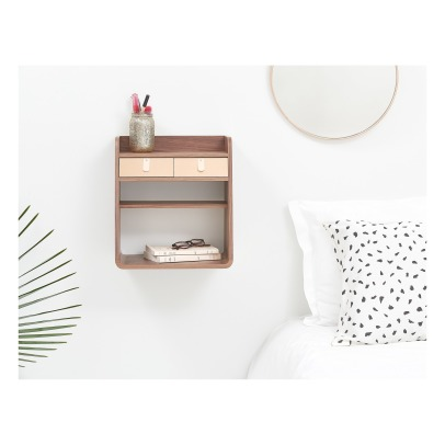 Hartô Suzon Walnut Wood Shelf -listing