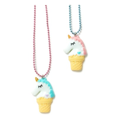Pop Cutie Set of 2 BFF Ice Cream Unicorn Necklaces-listing