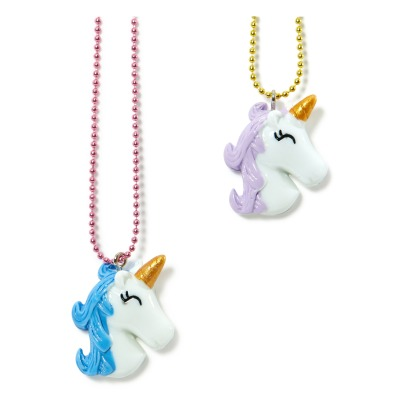 Pop Cutie Set of 2 BFF Unicorn Heads Necklaces-listing