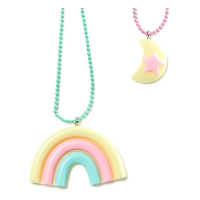 Pop Cutie Set da 2 collane Arcobaleno e Luna -listing