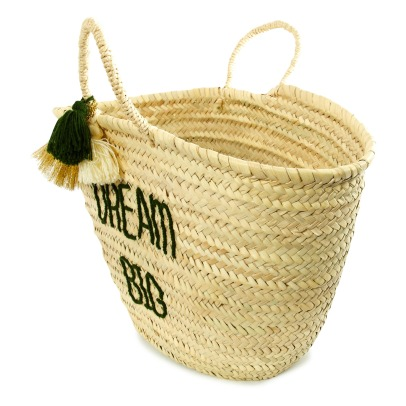 Rose in April Smallable x Rose in April Dream Adult embroidered Basket with Pompoms-listing