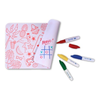 Superpetit Mini Reversible Coloring Placemats With 4 Felt Pens - Florida-listing