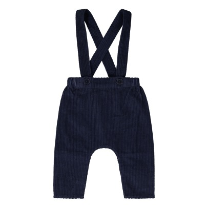 Louis Louise Chapi Baby Velvet Trousers with Braces -listing