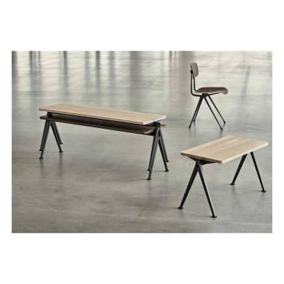 Hay Pyramid 11 85x40cm Smoked Oak Bench -  Wim Rietveld 	Re-edition-listing