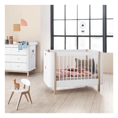 Oliver Furniture Wood Mini Bed - 68x122/162 cm-listing