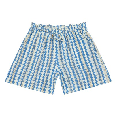 Little Karl Marc John Inty Lurex Geometric Print Shorts-listing