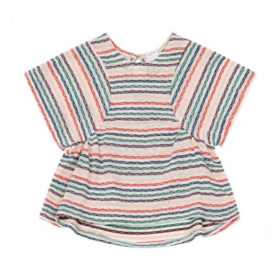 Little Karl Marc John T-Shirt Cotone et Lino Maniche Larghe Torty-listing