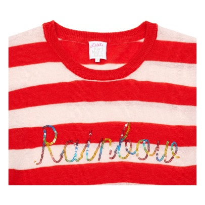 Little Karl Marc John Pullover a righe Rainbow con paillettes -listing