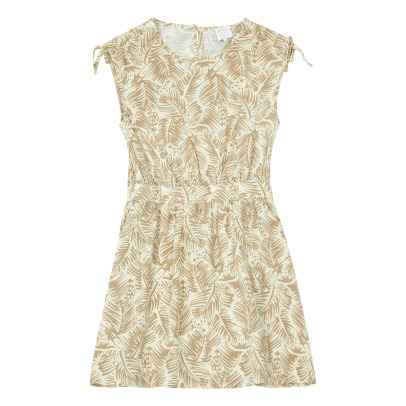 Little Karl Marc John Palms Shoulder Knots Dress-listing