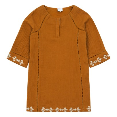 Little Karl Marc John Roujy Embroidered 3/4 Sleeve Dress-listing