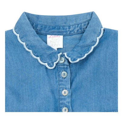 Little Karl Marc John Cerisy Embroidered Collar Buttoned Blouse-listing