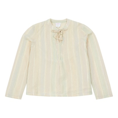 Little Karl Marc John Casamy Lurex Pompom Blouse-listing