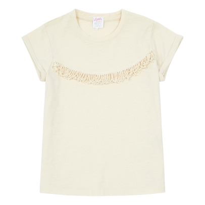 Little Karl Marc John Tofrangy Fringed T-Shirt-listing