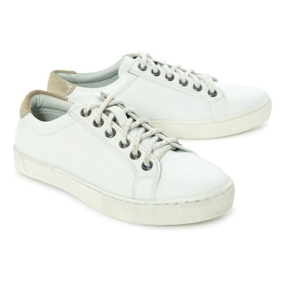 Little Karl Marc John Iridescent Leather Detail Trainers-listing