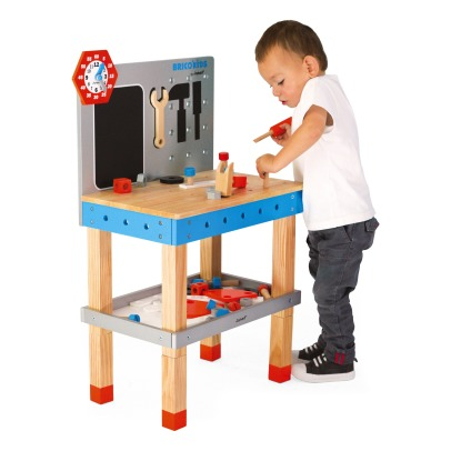 Janod Brico Kids Wooden Magnetic Workbench with Acessories -listing