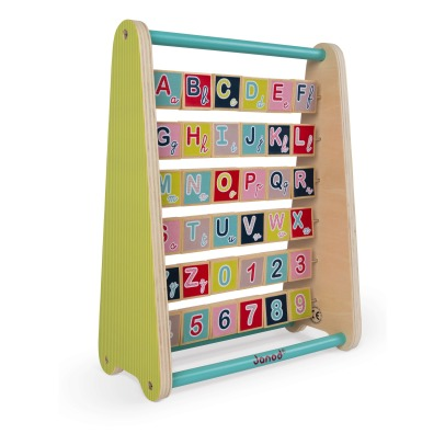 Janod Baby Forest Wooden Alphabet Abacus -listing