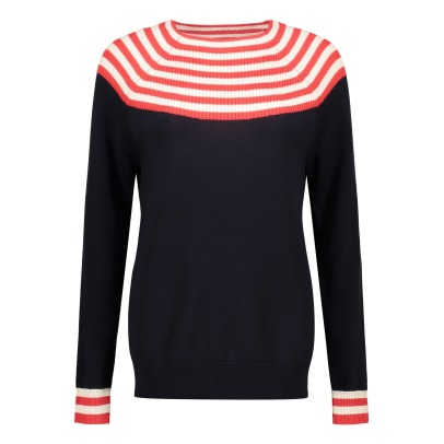 Fub Woolen Jumper with Striped Neck - Women's Collection-listing