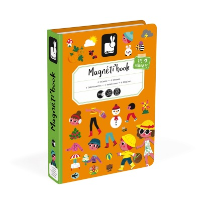 Janod 4 Seasons Magnetic Book - 115 magnets -listing