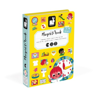 Janod Learn the Hour Magnetic Book - 75 magnets -listing