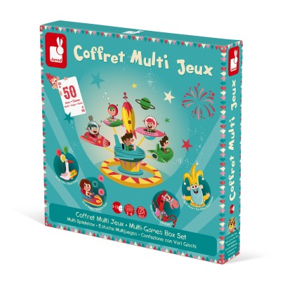 Janod Carousel Multigame Box -listing