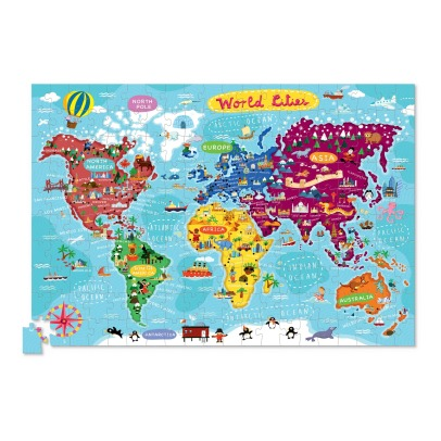 "Crocodile Creek ""Cities of the Word"" Puzzle Map - 200 pieces-listing"