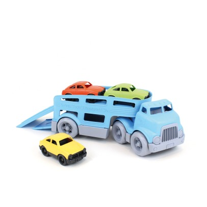 Green Toys Lorry with three cars -listing