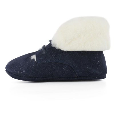 Pom d'Api Fur Sequined Slipeprs -listing