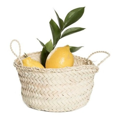 Smallable Home Palm Leaf Round Basket D20cm-listing