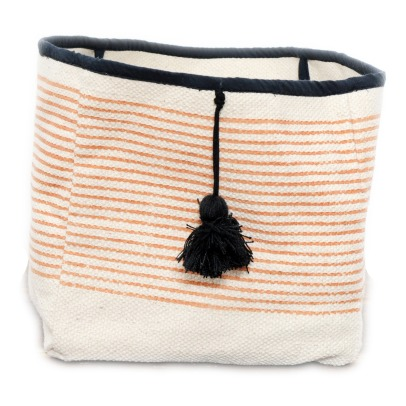 Smallable Home Striped Pompom Basket-listing