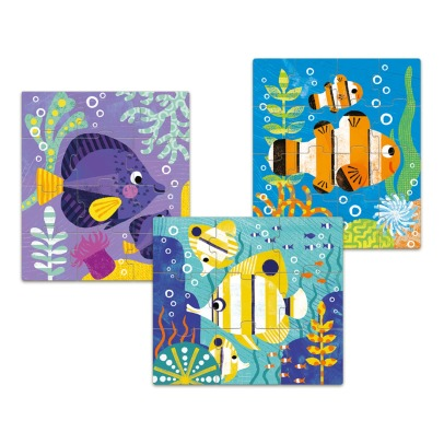 Djeco Primo poisson Puzzle Game - Set of 3-listing
