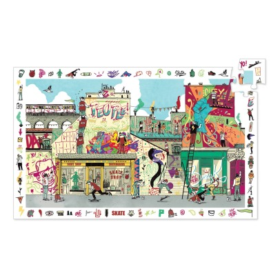 Djeco Streetart Obrservation Puzzle - 200 Pieces -listing
