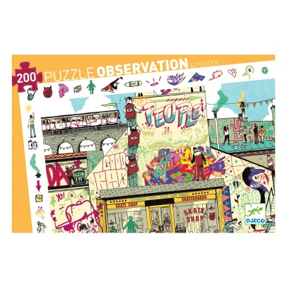 Djeco Puzzle Observation Streetart- 200 pezzi -listing