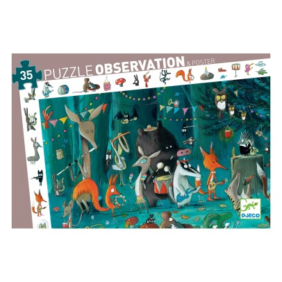 Djeco Puzzle Observation L'Orechestra - 35 pezzi -listing