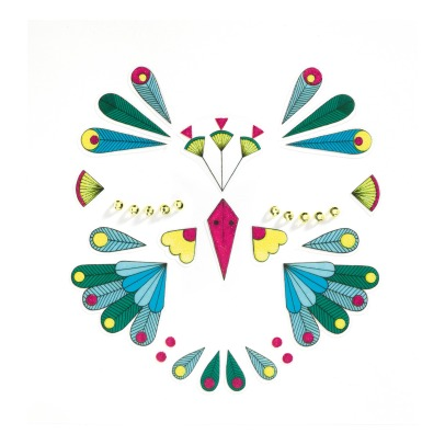 Djeco Bird Face Sticker -listing