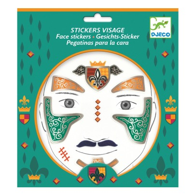 Djeco Knight Face Sticker -listing