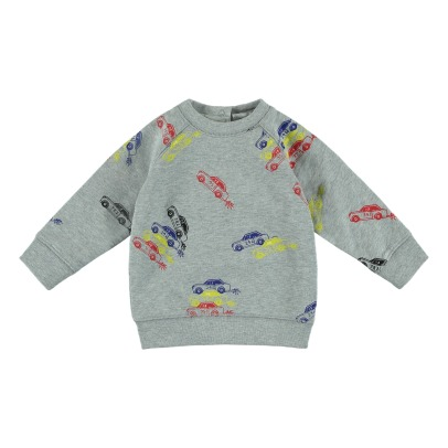 Stella McCartney Kids Felpa larga Cotone Bio Voitures Billy-listing