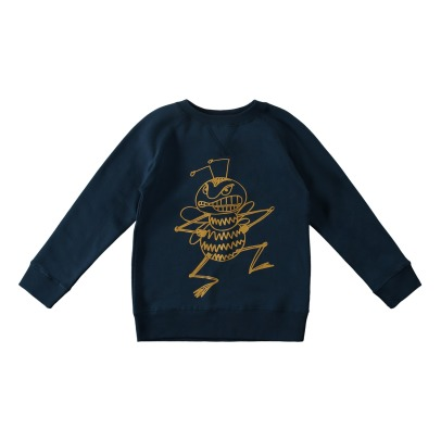 Stella McCartney Kids Felpa larga Cotone Bio Ape Billy-listing